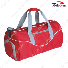 Red Athletic Sports Travel Bag with Shoe Compartment