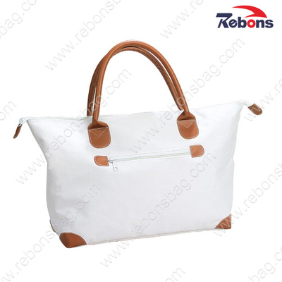 Promotional Ladies White Quilted Organizer Hand Shopping Tote Bags