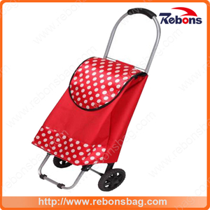 Allover Printed Child Size Shopping Cart Kids Plastic Shopping Cart