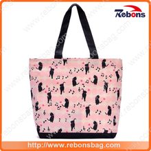 Fashion Promotional Popular Handbags with Cat Note Patterned