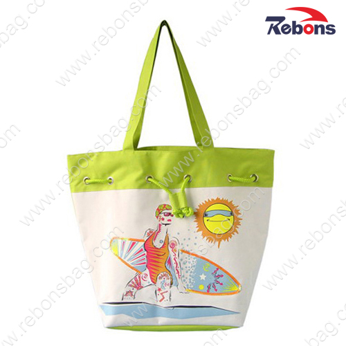 Fashionable Beautiful Fancy Nylon Fabric Hand Tote Beach Bags