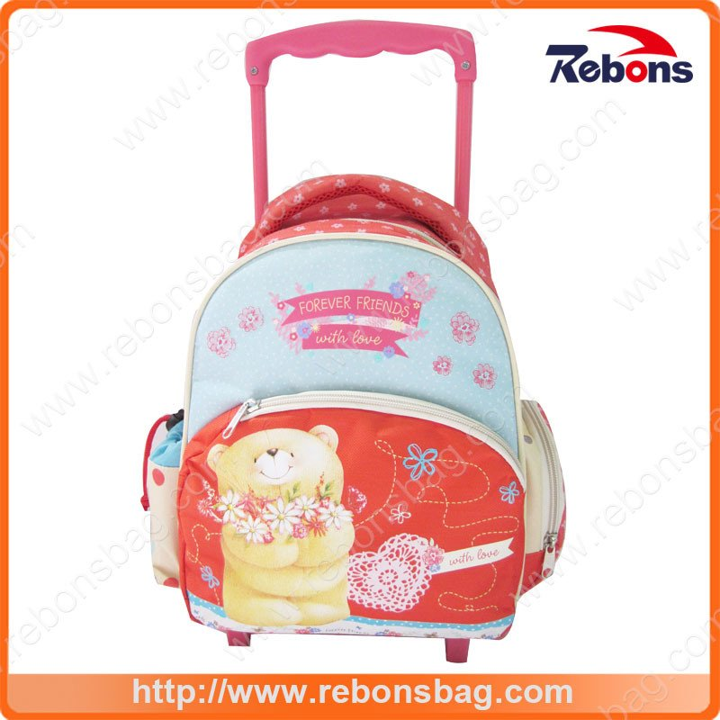 New Designer Factory Sale Polyester Book Bags with Wheels