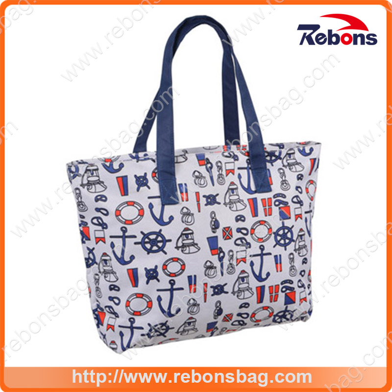 Navy Style Pattern Simplicity Handbags for Shopping Traveling