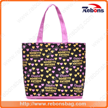 Lovely Girl Utility Handbags with Heart Letters Printing