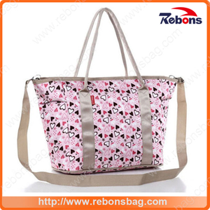 High Quality Multi-Function Baby Diaper Mummy Bag with Heart Printing