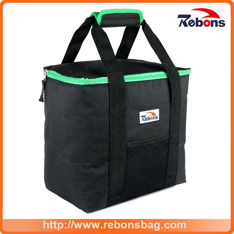 Printed Brand Name Fabric Insulated Ice Cooler Hand Bag for Picnic Lunch