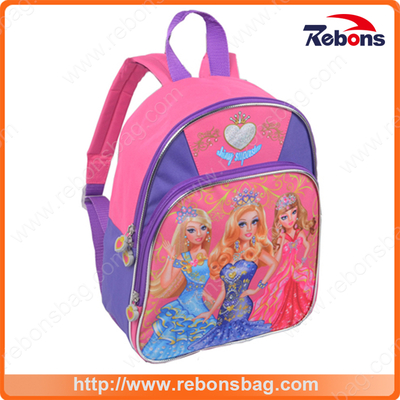 New Series Cartoon Characters Contrast Color Kids School Bag with Princess Pattern