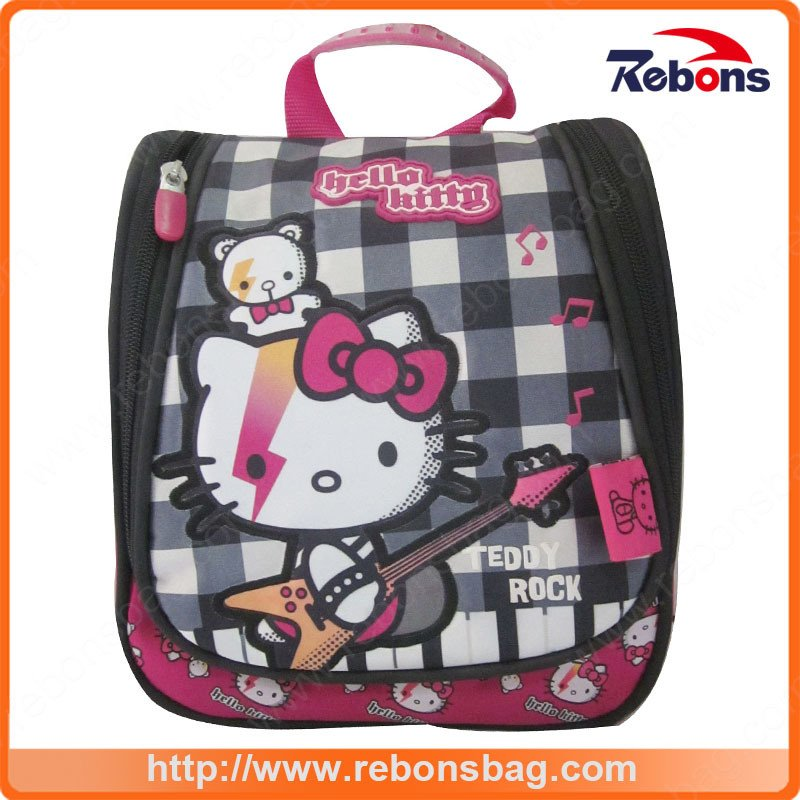 High Quality Plaid Hello Kitty Colorful Printing School Bags