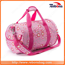 Easy-Holded Allover Flower Pattern Luggage Sports Bag