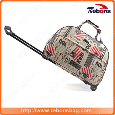 New Designed Safari Trolley Bag Polo Sizes with Flag Allover Printing