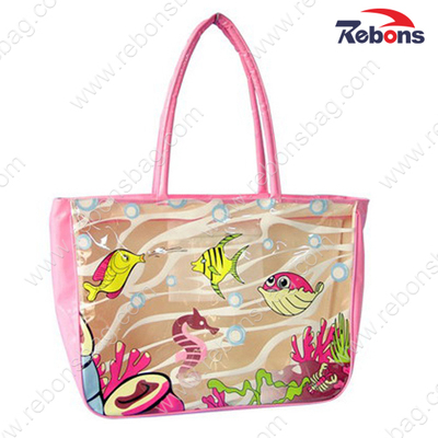 New Designed Top Quality Pink Ladies Hand Tote Beach Bags