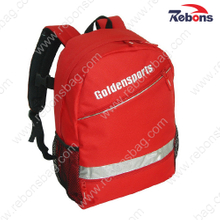 Red 600d Outdoor Travelling Sports Reflective Backpacks