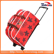 Multifunctional Laptop Trolley Bag Fashionable Trolley Bag with Flower Pattern