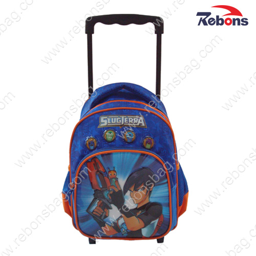 Brand Designer Cute Cartoon Kids School Backpack Trolley Bags