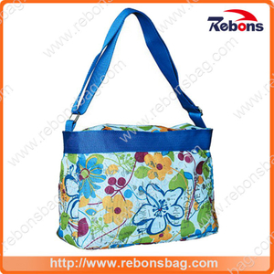 Multifunction Retro Flower Printing Fancy Design Handbag